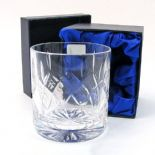 Crystal Whisky Glass Personalised with Presentation Box, SPECIAL OFFER ref CWGPB
